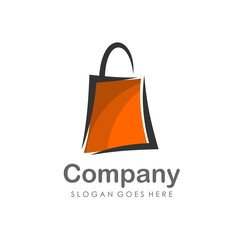 Shopping bag logo design vector