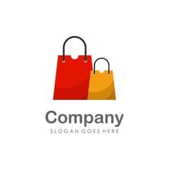 Shopping bag logo design vector