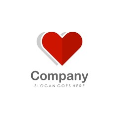 Love heart logo design vector