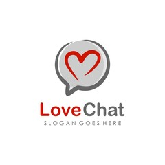 Unique and creative chat logo vector