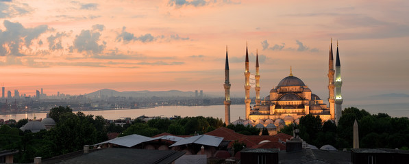 Sultan Ahmed Mosque panorama