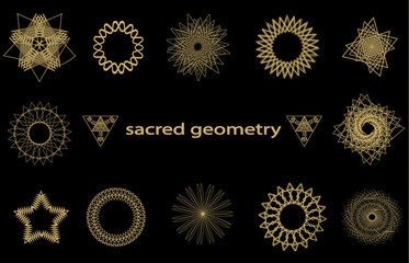 Set sacred geometry elements