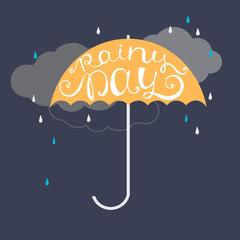 Rainy day. Vector illustration