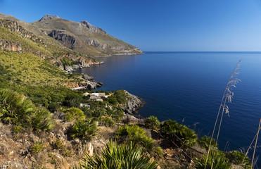 Landscape, Lo Zingaro Nature Reserve in Sicily, Italy