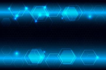light blue hexagon abstract technology innovation background