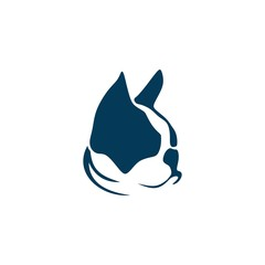 French bulldog and a cat vector illustration