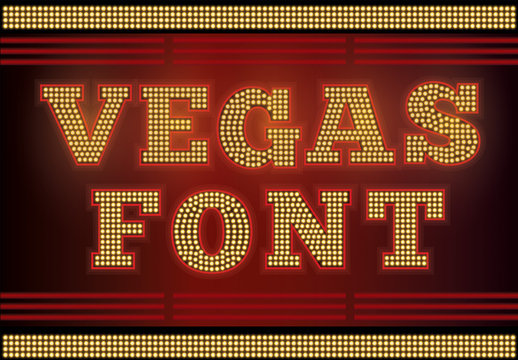 Marquee Lights Text Style Set