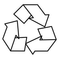 recycle arrows symbol icon vector illustration design