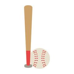 baseball bat and ball equipment isolated icon vector illustration design