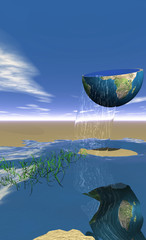 concept planète / ressources en eau