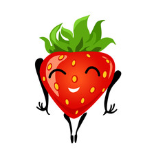 Strawberry cartoon girl