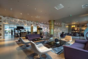 Modern luxury hotel lounge