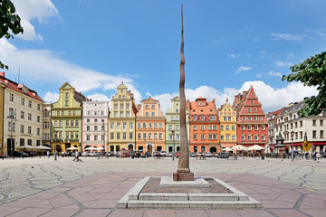 Solny square, Wroclaw, Poland