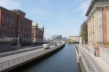 Centralbron(Central bridge) and buildings in Gamla Stan(Old Town) in Stockholm, the capital of Sweden.