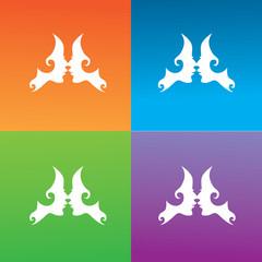 abstract swirl face logo