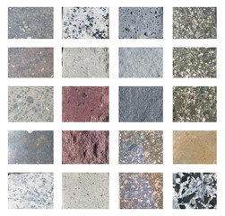 Set of stone textures and backgrounds