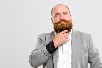Bald man with ginger beard