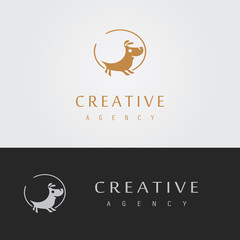 abstract dog logo