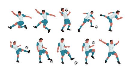 soccer player set