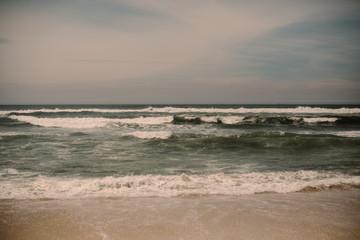 Atlantic ocean in Portugal, beautiful waves