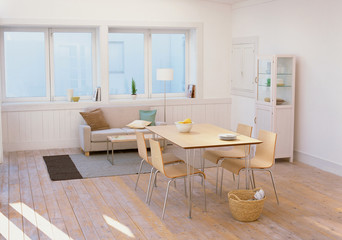 Eating area in kitchen. Interior kitchen in modern style