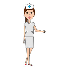 nurse Professional woman of health vector illustration design