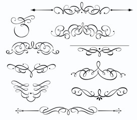 Decorative floral elements