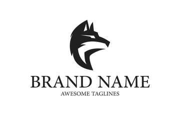 Wolf Brand Logo Illustration Design vector