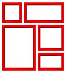 red frame set