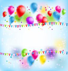 Balloons holiday card