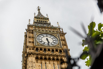 Big Ben, one of the most important monuments in the world, UK