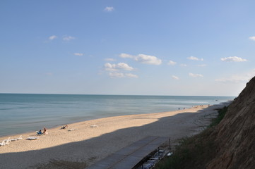 View of the Black Sea. In the afternoon weekend in the sunny day.