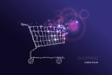 Effect motion with shopping cart