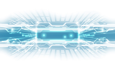 Abstract technological background concept with various technical elements. illustration Vector