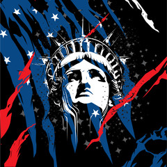 Statue of Liberty Head Vector