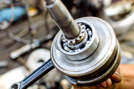 Stainless ball bearing on drive shaft