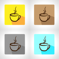 Coffee cup 3D vector background abstract