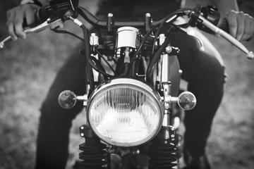 Retro motorcycle detail