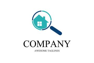 Home Search Logo,locator real estate illustration vector logo design