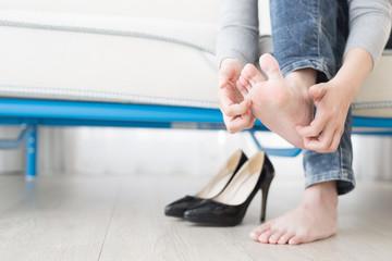 woman athlete foot
