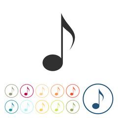 Runde Schaltflächen - Musik - Note