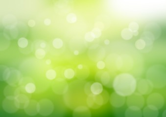 Abstract gradient bokeh green background pattern