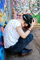 Ragazza hipster