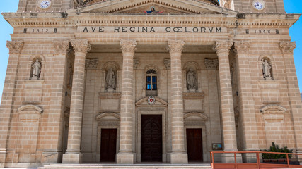 Rotunda Dome Kirche mit Säulen auf Malta
