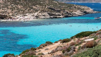 Blue Lagoon im Mittelmeer Comino / Malta
