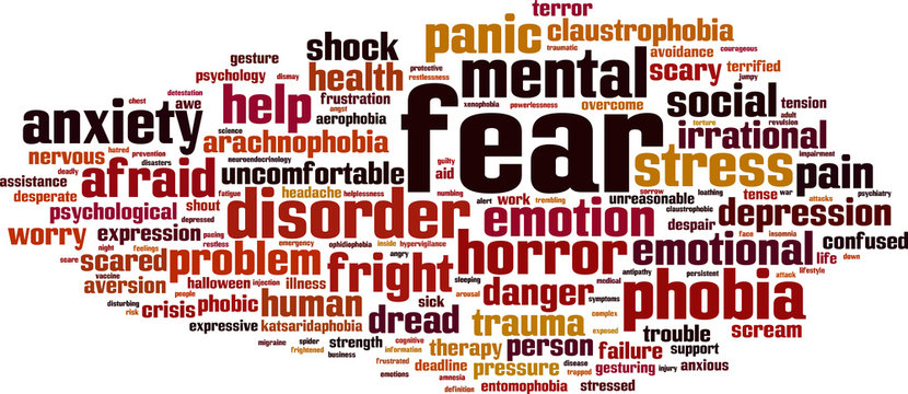 Fear word cloud concept