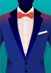 vector background with tuxedo
