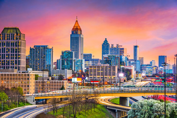 Wall Mural - Atlanta, Georgia, USA Skyline