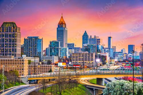 Fototapete Atlanta, Georgia, USA Skyline