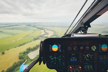 Foto op Plexiglas Helicopter View from the helicopter